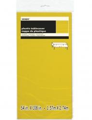 Nappe en plastique rectangulaire jaune clair 137 x 274 cm