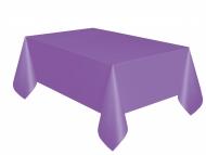 Nappe en plastique rectangulaire violet foncé 1,37 x 2,74 m