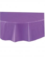 Nappe en plastique ronde violet foncé 2,13 m