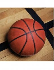 18 Serviettes en papier Ballon de basket 33 x 33 cm