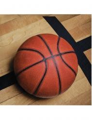 18 Petites serviettes en papier Ballon de basket 25 x 25 cm