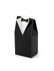10 Boîtes à cadeaux marié noires 6,5 x 3 x 9 cm