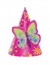 8 Chapeaux de fête Papillon pour enfants