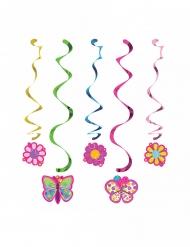 5 Suspensions en spirales Papillon 91 cm