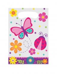 8 Sacs à cadeaux Papillon et Coccinelle 23 x 16 cm