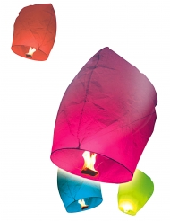 Pack 10 lanternes volantes multicolores 50 x 90 cm