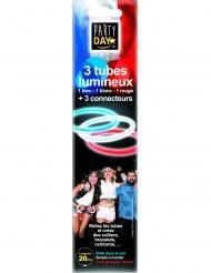 3 Bracelets phosphorescent bleu blanc rouge