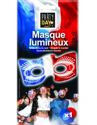 Masque phosphorescent tricolore France