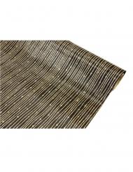 Chemin de table satin noir à paillettes dorées  28 cm x 5 m