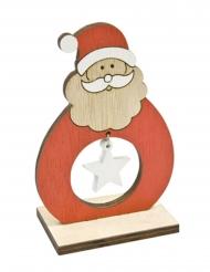 Décoration en bois Père Noël 6,8 x 4 x 10 cm
