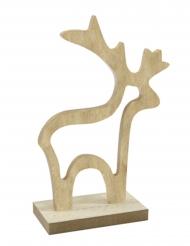 Décoration Renne en bois naturel 15,5 x 10,5 x 4,5 cm