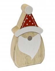 Décoration en bois père noel nordique 6,5 x 2,5 x 12 cm