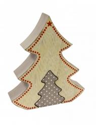 Décoration en bois sapin nordique 10 x 2,5 x 12 cm