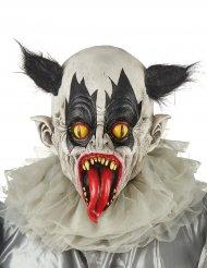 Masque latex clown noir et blanc adulte