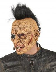 Masque latex punk à crête adulte