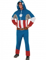 Déguisement combinaison à capuche Captain America™ adulte