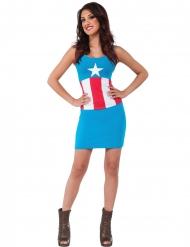 Déguisement robe American Dream Captain America™ femme