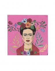 16 Petites serviettes en papier Frida 25 x 25 cm