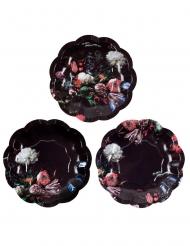 12 Petites assiettes en carton Porcelaine Baroque 18 cm