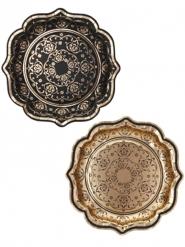 12 Assiettes en carton Porcelaine Baroque 22 cm