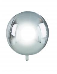 Ballon rond en aluminium argenté métallisé