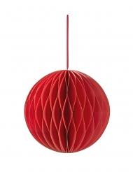 Décoration à suspendre en papier alvéolé rouge 15 cm