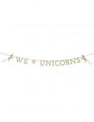 Guirlande en carton We love Unicorns 3 m