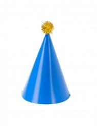 4 Chapeaux de fêtes en papier rose, jaune, bleu et vert