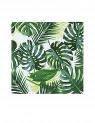 20 Petites serviettes en papier Tropical vert 25 x 25 cm