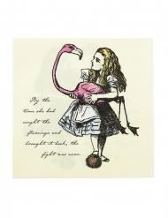 20 Serviettes en papier Alice au Pays imaginaire 33 x 33 cm