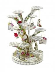 Présentoir à cupcake en carton en forme d'arbre 58 x 24 cm