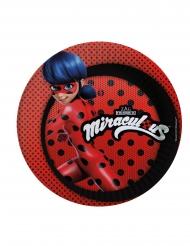 8 Assiettes en carton Ladybug™ 23 cm