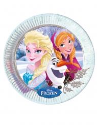 8 Assiettes en carton La Reine des Neiges câlins d'hiver™ 23 cm