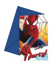 6 Cartons d'invitations The Amazing Spider-man™ 12 x 12,5 cm