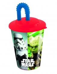 Verre avec paille en plastique Star Wars™ 400 ml