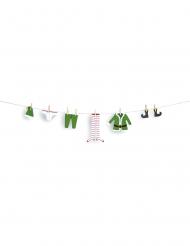 Guirlande DIY lutin vert avec pinces