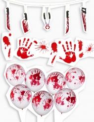 Kit décorations Halloween ensanglanté