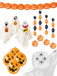 Kit 19 décorations d'Halloween citrouille