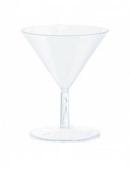 20 Mini verres à Martini en plastique 59 ml