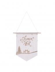 Suspension en coton Joyeux Noël petits faons 20 x 30 cm