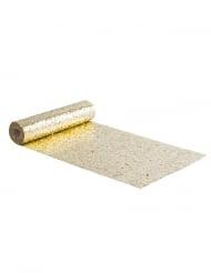 Chemin de table paillettes dorées 28 cm x 3 m