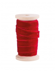 Ruban en velours rouge 13 mm x 5 m