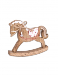 Cheval à bascule traditionnel en bois 14 cm