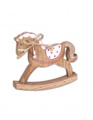 Cheval à bascule traditionnel en bois 14 cm
