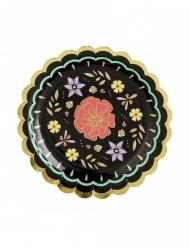 6 Petites assiettes en carton Dia de los Muertos 18 cm