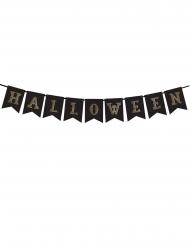 Bannière en papier Halloween noire et doré 20 x 175 cm