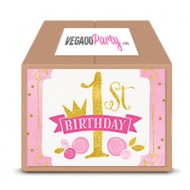 Super Pack anniversaire 1 an rose et or