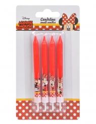 4 Bougies d'anniversaire Minnie™ 9 cm
