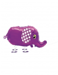 Ballon métallique éléphant marchant 81,2 cm