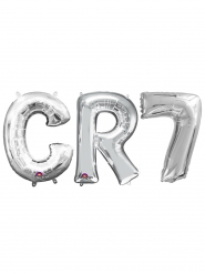 Ballons aluminium CR7 argent 33 cm